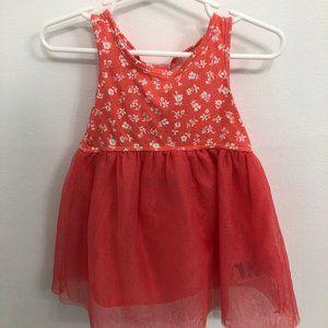 12-18M Baby Gap Coral Floral Dress